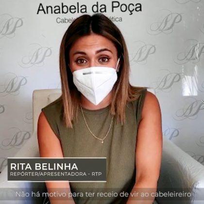 Rita Belinha no Espaço Anabela da Poça Cabeleireiros